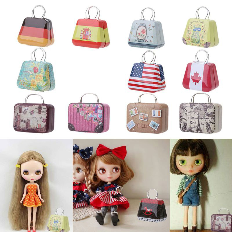 Doll Toys Trunk Accessories For Blyth Azone Dollhouse Furniture Box Candy Box Cake Decoration Jewellery Box Gift Box Arts