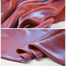 Cotton Satin Thin Super Soft Magic Color Red and Blue Luster Two-color Cotton Satin Garment Fabric Sewing Diy Designer Fabric