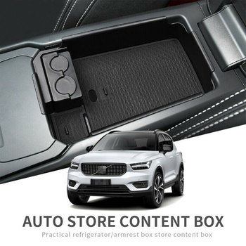 Car Central Armrest Storage Box for Volvo XC40 Accessories Stowing Tidying Useful Auto Interior