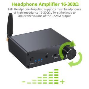 Image 4 - Prozor 192kHz Bluetooth DAC ממיר עם מגבר אוזניות 3.5mm אודיו מתאם עבור APT X AAC SBC דיגיטלי לאנלוגי ממיר