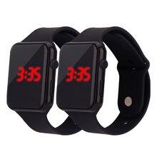 Prosty cyfrowy wyświetlacz LED mężczyźni zegarki silikonowe mężczyźni i kobiety uniwersalne zegarki sportowe męski elektroniczny Zegarek na rękę Zegarek meski
