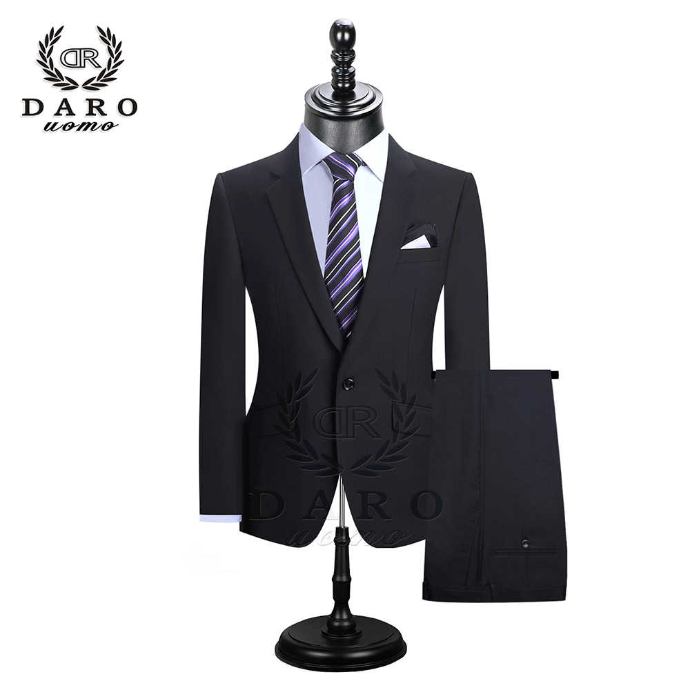 DARO 2020 Men Suits Blazer With Pants Slim Fit Casual One Button Jacket for Wedding DR8158