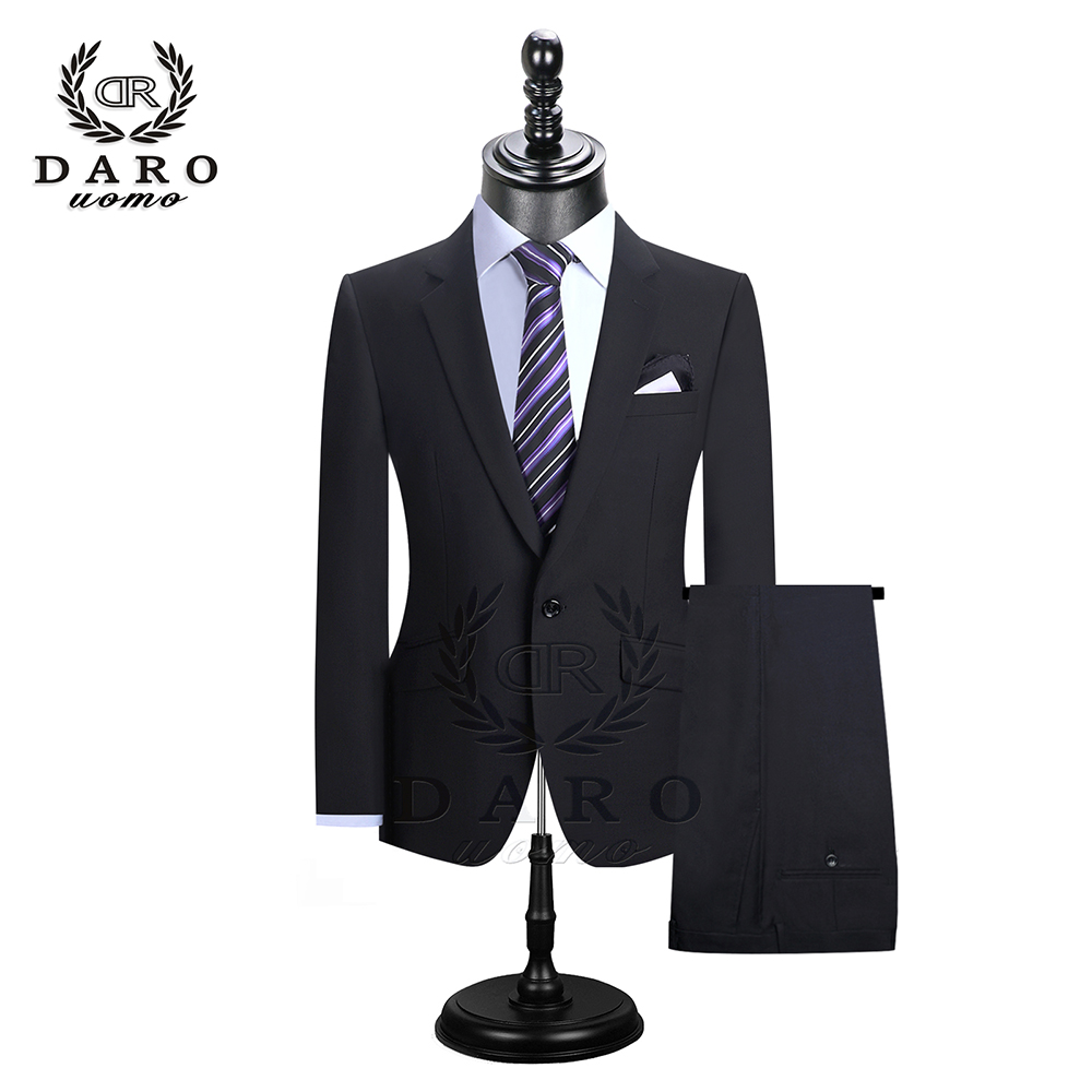 DARO 2019 Men Suits Blazer With Pants Slim Fit Casual One Button Jacket For Wedding DR8158