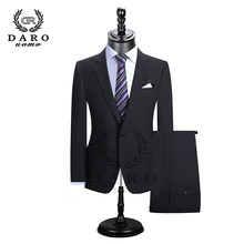 DARO 2019 Men Suits Blazer With Pants Slim Fit Casual One Button Jacket for Wedding DR8158(China)