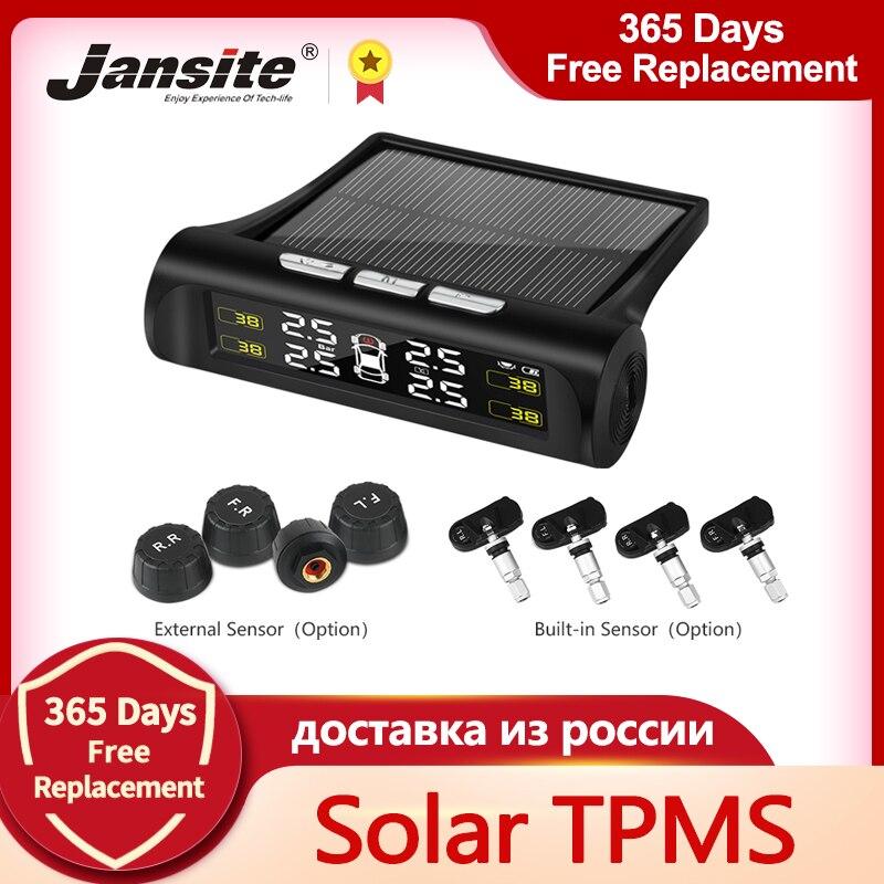 Monitoring-System Tyre-Pressure Jansite Solar-Power Digital Smart-Car TPMS Lcd-Display