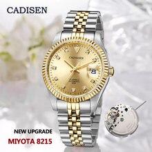 Часы наручные cadisen мужские золотистые водостойкие до 5 атм
