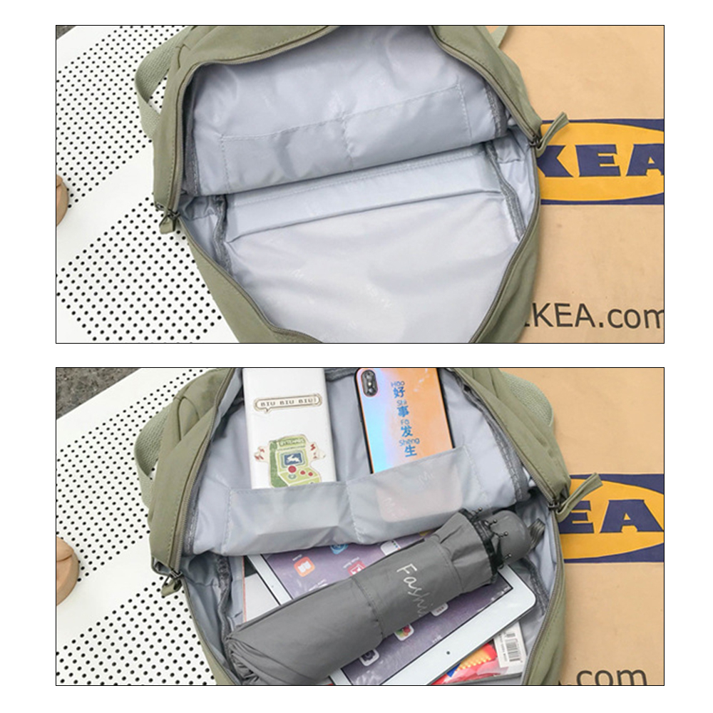 Image 5 - Fashion Avocado Fruit Embroidery Women Backpack Shoulder Bag Waterproof Nylon Bagpack Casual Schoolbag for Teens female backpackBackpacks   -