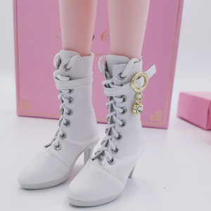 Fashion Bow Straw Hat Doll's Accessories for 1/3 BJD Doll Baby Doll Boots Shoes for 60cm Doll Decor Accessories(China)