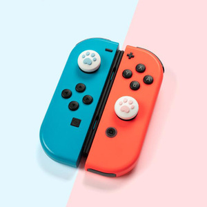 Image 3 - 4pcs Cute Cat Paw Claw Thumb Stick Grip Cap Joystick Cover For Nintend Switch Lite NS Joy Con Controller Gamepad Thumbstick Case