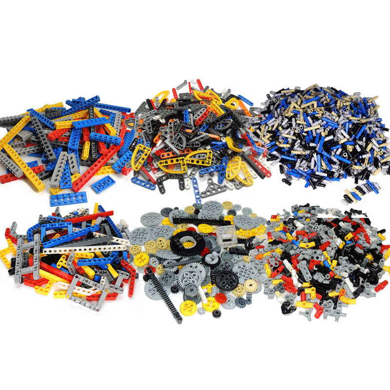 200Grams Building Blocks Technic Parts Liftarm Beam Connector MOC Brick Parts DIY Toys SUV Compatible with legoes Technic Bulk