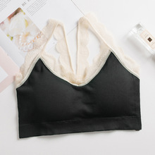 Sexy Lingerie Cotton Slim Camis Tops Women Lace Bra Female Strap Top Summer