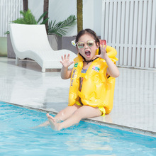 От 3 до 10 лет, подарок для ребенка, надувной спасательный жилет милый детский жилет для маленьких плавательный надувной плавательный круг из...