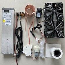 2500 Вт ZVS индукционный нагреватель индукционного нагрева печатной платы нагревательная машина расплавленный металл+ катушка Mayitr+ тигель+ насос+ источник питания