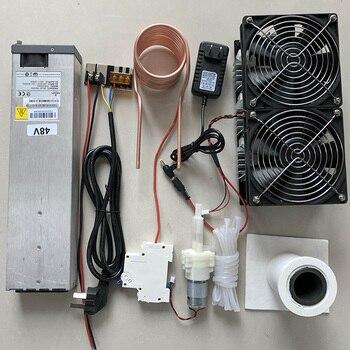 2500 Вт ZVS индукционный нагреватель печатной платы нагревательная машина расплавленный металл + катушка Mayitr + тигель + насос + источник питания