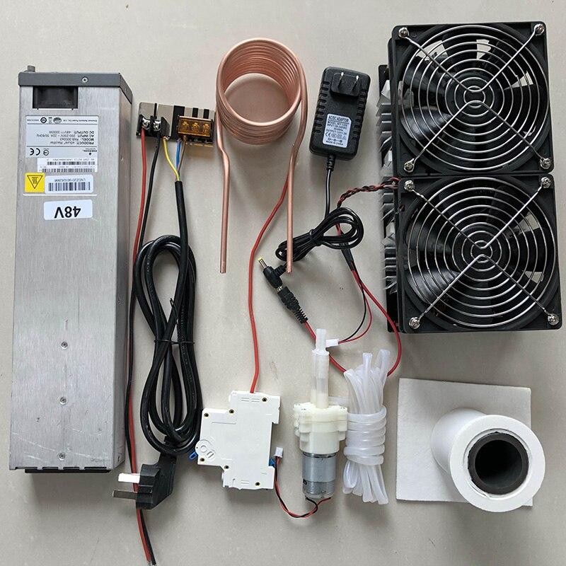 2500 w zvs aquecimento por indução aquecedor de indução placa pcb máquina de aquecimento de metal derretido + bobina mayitr cadinho bomba fonte alimentação