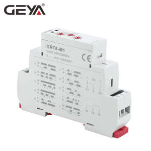 Image 3 - GEYA GRT8 M Multi Function Din Rail Automatic Timer Relay AC DC 12V 24V 220V SPDT DPDT Multifunction Time Relay