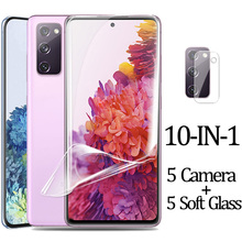Hydrogel Film for S20 Ultra S20FE Camera Soft Glass for Samsung S20 FE Note 20 Ultra Screen Protector Samsung S20Plus Note20 Samsung S20 FE Soft Glass Galaxy S20Ultra