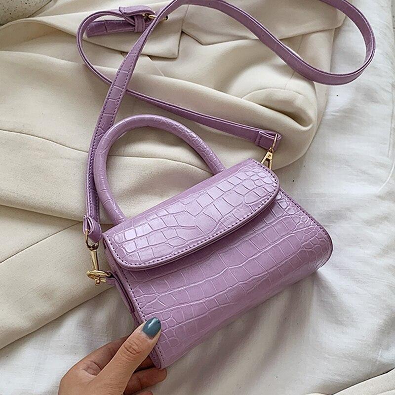 Crocodile Pattern Crossbody Bags For Women 2020 Small Chain Handbag Small Bag PU Leather Hand Bag Ladies Designer Evening Bags(China)