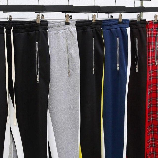 JODIMITTY-pantalones de chándal para hombre, ropa deportiva informal con cremallera, estilo Hip Hop, 2021 6