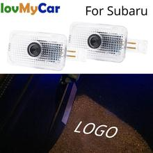 2X Welcome Light Door Led Shadow Projection Lamp Courtesy Laser For Subaru Forester Outback Legacy XV Impreza Tribeca 5W 6000K high quality power steering pump for subaru b9 tribeca 2006 2007 34430xa0009l