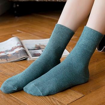 Good Luck Letter Cotton Women Crew Socks 2019 Autumn New Fashion Breathable Deodorant Brief Wild Elastic Comfort Socks Women