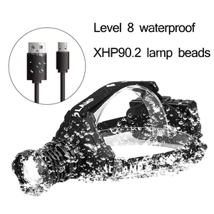 Image 2 - Most Powerful XHP90.2 Led Headlamp 8000LM Head lamp USB Rechargeable Headlight Waterproof Zooma Fishing Light Use 18650 Battery