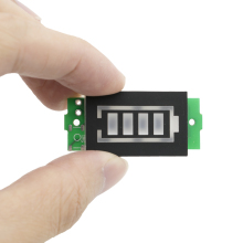 2S одиночный 8,4 V Индикатор емкости литиевой батареи 4,2 V синий дисплей тестер мощности батареи для электромобиля li-ion