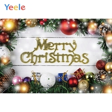 Yeele Christmas Photocall Ins Wood Decor Gift Balls Photography Backdrops Personalized Photographic Backgrounds For Photo Studio yeele christmas photocall candy old wood gift decor photography backdrops personalized photographic backgrounds for photo studio