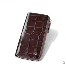 gete Really a crocodile  Leather wallet male long zipper clutch multi-card business wallet American belly clutch bag cestbeau crocodile belly men wallet man clutch bag holds a bag of genuine leather multi card business wallet