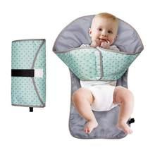 Alfombrilla para cambiar pañales portátil para bebé, cambiador plegable Unisex, colchón para bebé