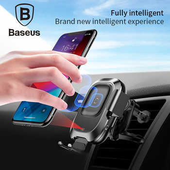 Baseus Qi Car Wireless Charger For iPhone Xs Max Xr X Samsung S10 S9 Intelligent Infrared Fast Wirless Charging Car Phone Holder - DISCOUNT ITEM  32% OFF All Category