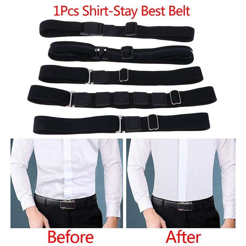 1pcs Belts Available Easy Shirt Stay Adjustable Belt Non-slip Wrinkle-Proof Shirt Holder Straps Locking Belt Holder