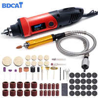 BDCAT 400W Mini Drill Rotary Tool Variable Speed Electric Grinder Engraving Polishing Machine Power Tool with Dremel Accessories