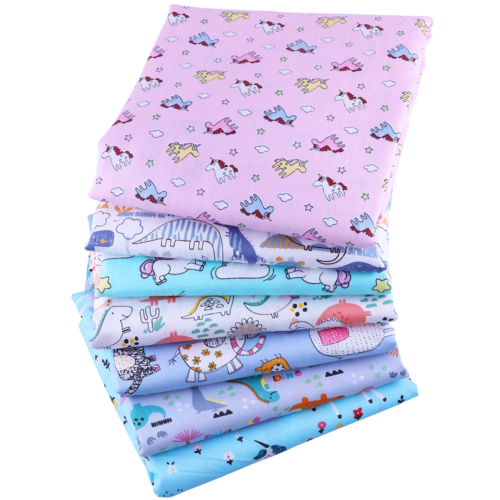 50*145CM unicorn pattern100 percent cotton fabric for Tissue Kids Bedding home textile Textile for Sewing Doll Dress