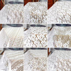 Lace Fabric Hollow Out White Wedding Dress DIY 3D Flower Water Soluble Thin Clothing Black Brocade Sewing DIY By The Meter Mesh