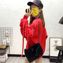 red womens sweatshirt hoodies korean bangtan kpop for girls sweatshirts women fall 2019 autumn cheap wholesale clothes