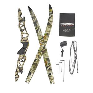 Image 4 - 1Set 64Inch 30 55Lbs Boogschieten Recurve Boog Met Stabilisator F166 Takedown Boog Ilf Boog Riser Rh Outdoor Schieten Jacht accessoires