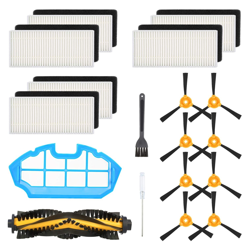 Replacement Accessories Kit Compatible Ecovacs Deebot N79S Deebot N79 Robotic Vacuum,1 Main Brush+6 Filters+8 Side Brushes+1 Pri