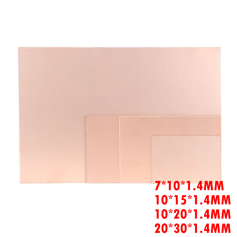 PCB Copper Clad Laminate One Single Side Plate CCL 7x10 10x15 10x20 20x30 Bakelite Universal Board Practice DIY Kit
