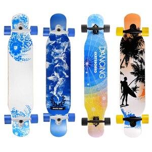 Image 5 - מקצועי מלא Longboard סקייטבורד ריקוד רחוב סקייטבורד Longboard Downhill מייפל סיפון לוח