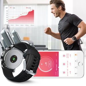Image 3 - LEMFO חכם שעון עסקי גברים כפול זמן תצוגת אזור קצב לב צג כושר גשש עמיד למים שעון עבור אנדרואיד IOS