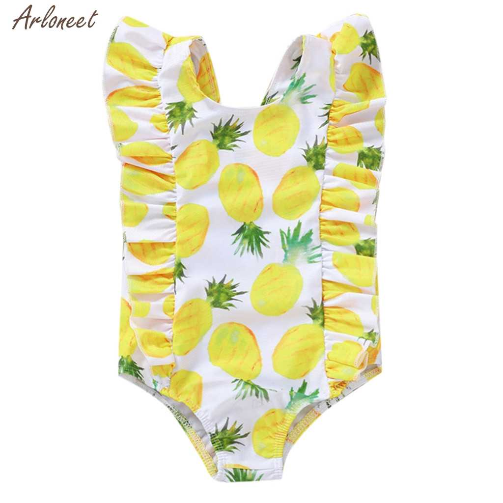 Baby Girls Swimwear Toddler Kids Baby Girls Fruit Bikini Swimwear Swimsuit Bathing Suit Beachwear Baby Romper Fashion
