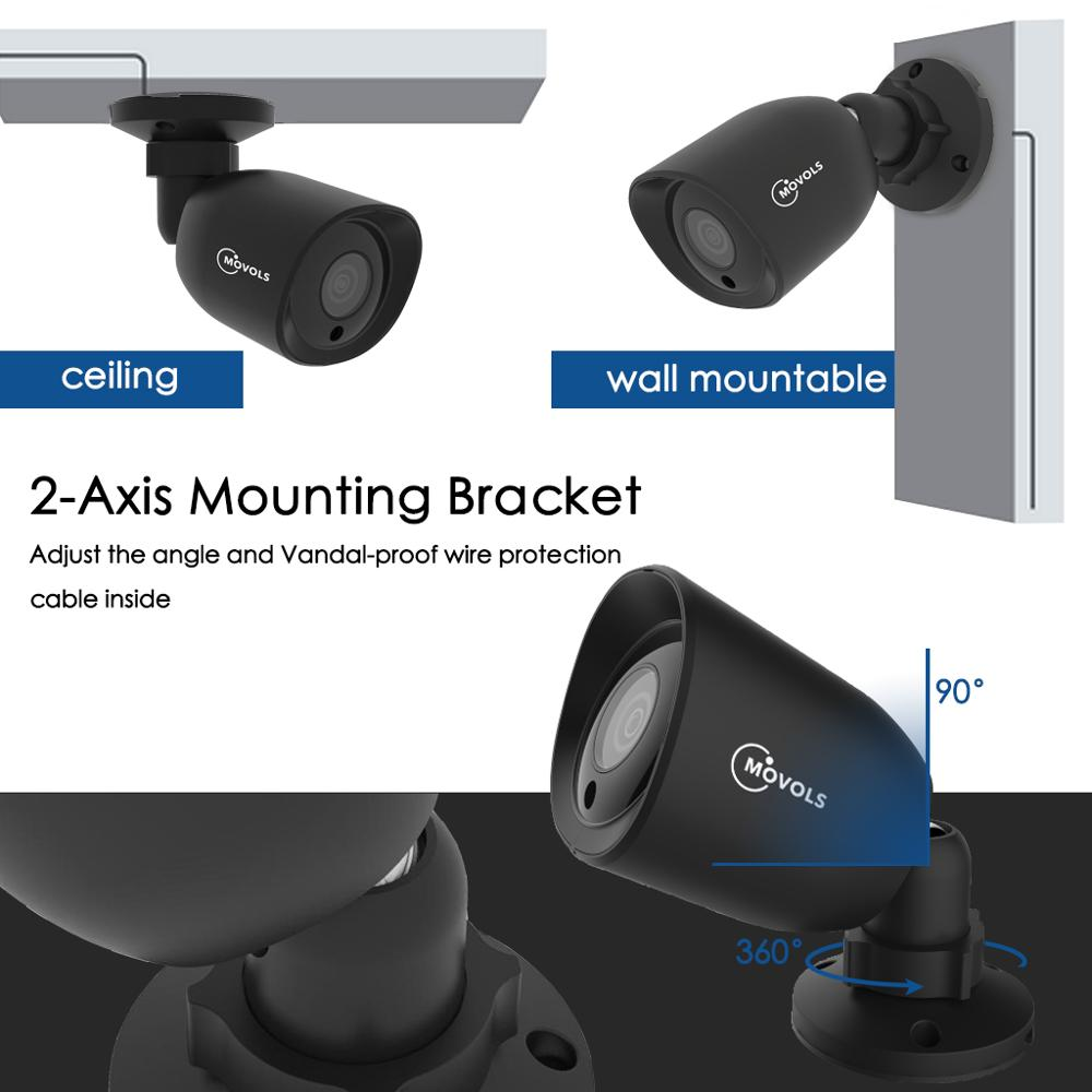 lowest price MOVOLS 5MP HD Security Camera System 8CH H 265  DVR Outdoor Indoor Video Surveillance Kit Night Vision Waterproof CCTV System