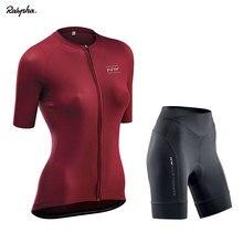 Conjunto de Ropa de Ciclismo profesional para mujer, Ropa para bicicleta de montaña, de manga corta, pantalones cortos con pechera