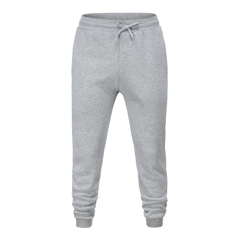Gray  Men's  Cotton Pants Male Bound Feet Motion Leisure Trousers Active Elastic Hip Hop Slim Joggers Sweatpants Size M-3XL