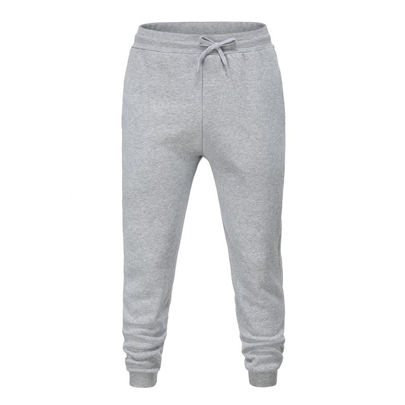 Gray  Men's  Cotton Pants Male Bound Feet Motion Leisure Trousers Active Elastic Hip Hop Slim Joggers Sweatpants Size M-3XL