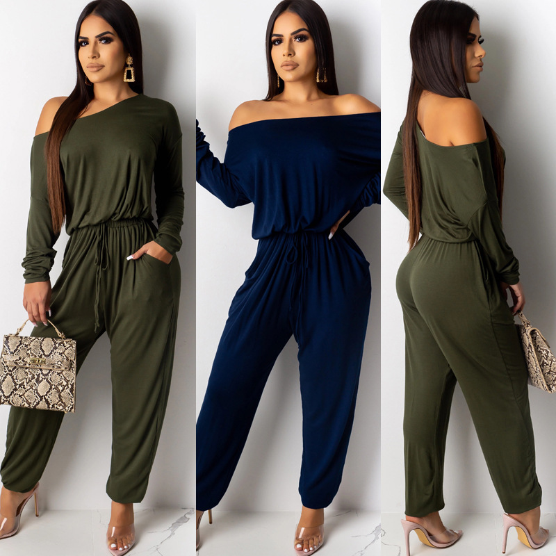 Sexy Jumpsuit Women Casual Rompers Long Sleeve Jumpsuit For Women Rompers Loose Winter Jumpsuits S M L XL