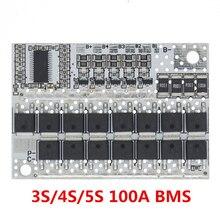 21V 100A 5S BMS ليثيوم أيون كحم بطارية الليثيوم الثلاثي حماية لوحة دوائر كهربائية