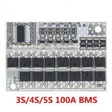 21V 100A 5S Bms Li Ion Lmo Ternair Lithium Batterij Bescherming Circuit Board