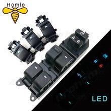 Interruptor de ventanilla individual LED iluminado, para Toyota RAV4 RAV 4 Camry Corolla Yaris Cruiser Vios, retroiluminación de conducción izquierda